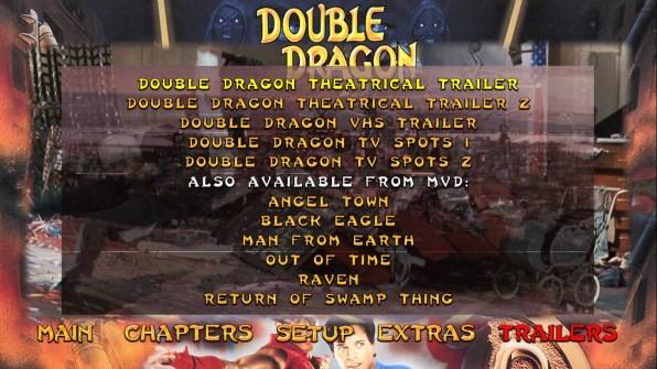 Double Dragon trailers menu