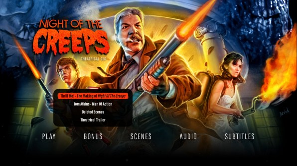 Night of the Creeps Theatrical Cut extras menu