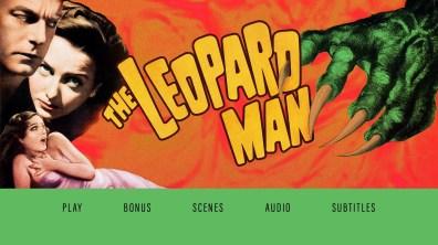 The Leopard Man Menu