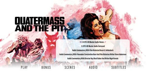 Quatermass and the Pit audio menu