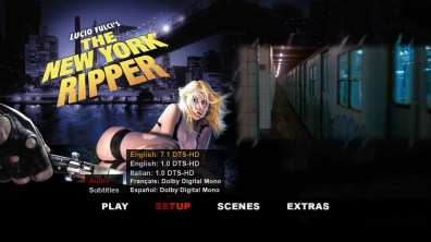 The New York Ripper audio menu