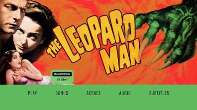 The Leopard Man Bonus Menu
