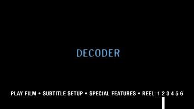 Decoder Blu-ray menu