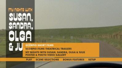 My Nights with Susan, Sandra, Olga & Julie extras menu