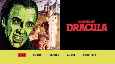 Scars of Dracula Blu-ray menu
