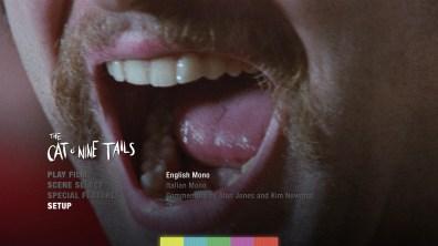 The Cat o' Nine Tails audio menu