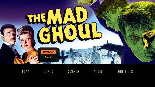The Mad Ghoul extras menu
