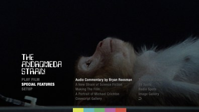 The Andromeda Strain Blu-ray Special Features Menu