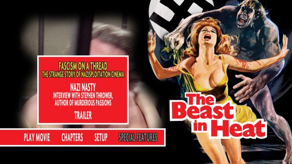 The Beast in Heat Blu-ray Special Features Menu