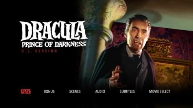 Dracula Prince of Darkness US Menu