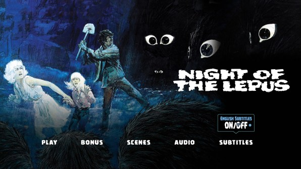 Night of the Lepus Subtitle Menu