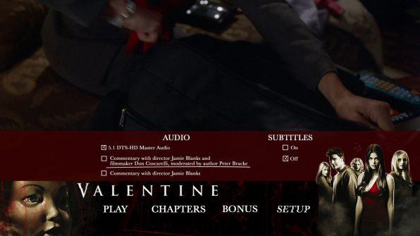 Valentine Blu Setup Menu