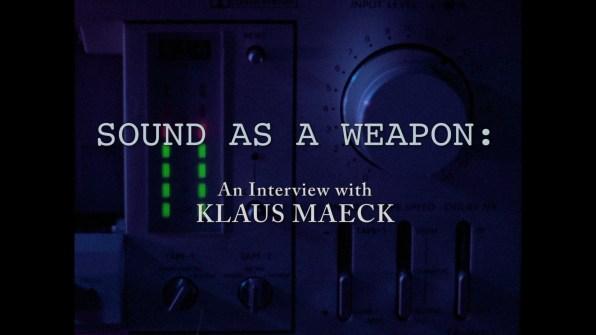 Decoder Klaus Maeck interview 1