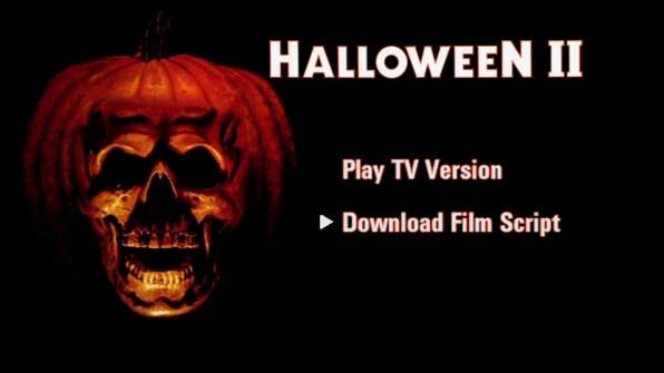 Halloween II steelbook DVD menu