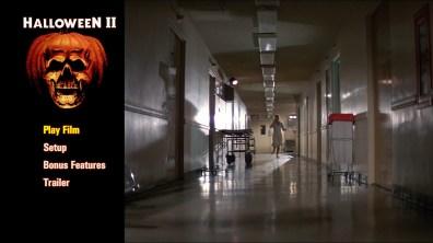 Halloween II steelbook Blu-ray menu