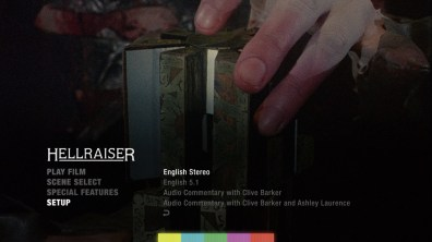 Hellraiser audio menu