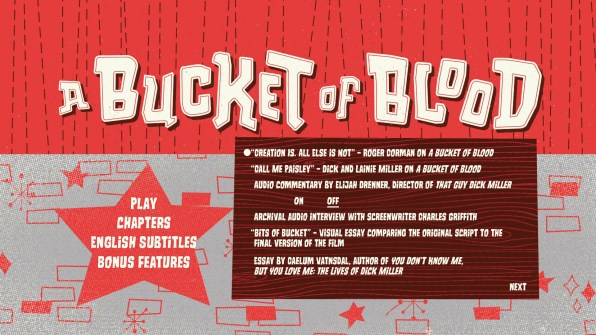 A Bucket of Blood Blu-ray Special Features Menu 01