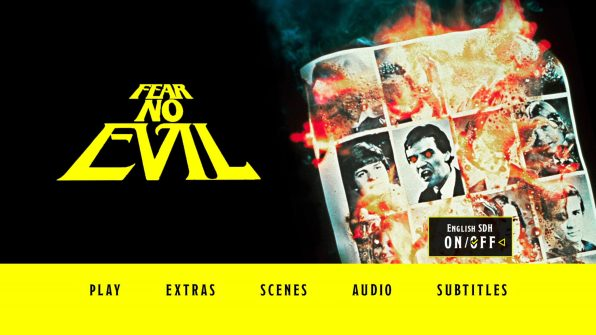 Fear No Evil Blu-ray Subtitle Menu