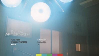 In the Aftermath Blu-ray Setup Menu