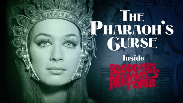 Blood from the Mummy's Tomb The Pharaoh's Curse featurette 1
