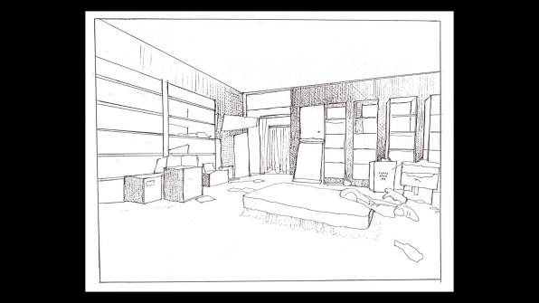 Hellbound: Hellraiser II alternate ending storyboard 1