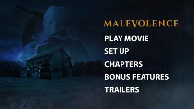 Malevolence Blu-ray Menu
