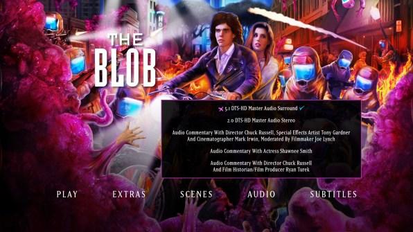 The Blob audio menu