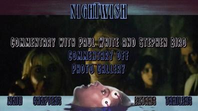Nightwish Blu-ray Features Menu