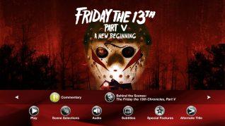 Friday the 13th Part V: A New Beginning Blu-ray Extras Menu 1