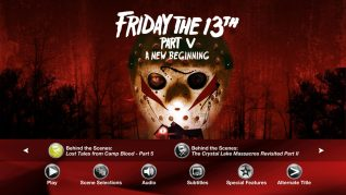 Friday the 13th Part V: A New Beginning Blu-ray Extras Menu 3