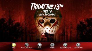 Friday the 13th Part V: A New Beginning Blu-ray Menu