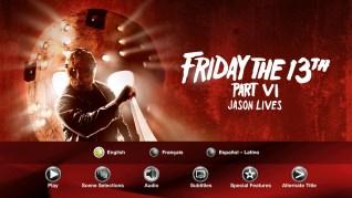Friday the 13th Part VI: Jason Lives Blu-ray Audio Menu