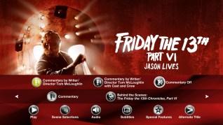 Friday the 13th Part VI: Jason Lives Blu-ray Extras Menu 2