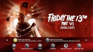 Friday the 13th Part VI: Jason Lives Blu-ray Extras Menu 3
