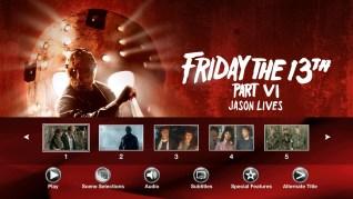 Friday the 13th Part VI: Jason Lives Blu-ray Scenes Menu
