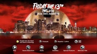Paramount Pictures Friday the 13th Part VIII: Jason Takes Manhattan Blu-ray Subtitles Menu