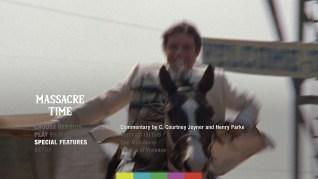 Massacre Time Blu-ray Extras Menu 1