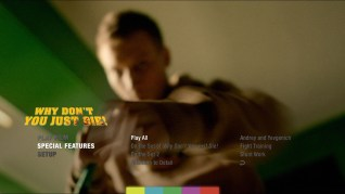 Why Don't You Just Die? Blu-ray Extras Behind the Scenes Menu
