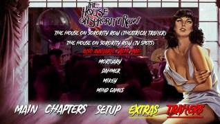 The House on Sorority Row Blu-ray Trailers Menu