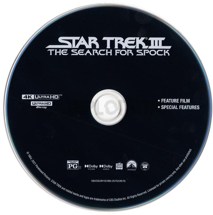 Star Trek III: The Search for Spock 4K UHD Disc