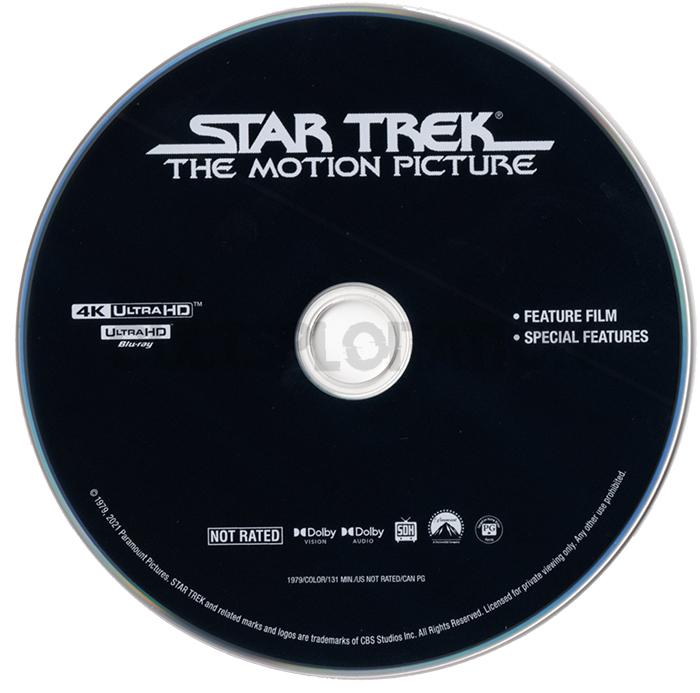 Star Trek: The Motion Picture 4K UHD Disc