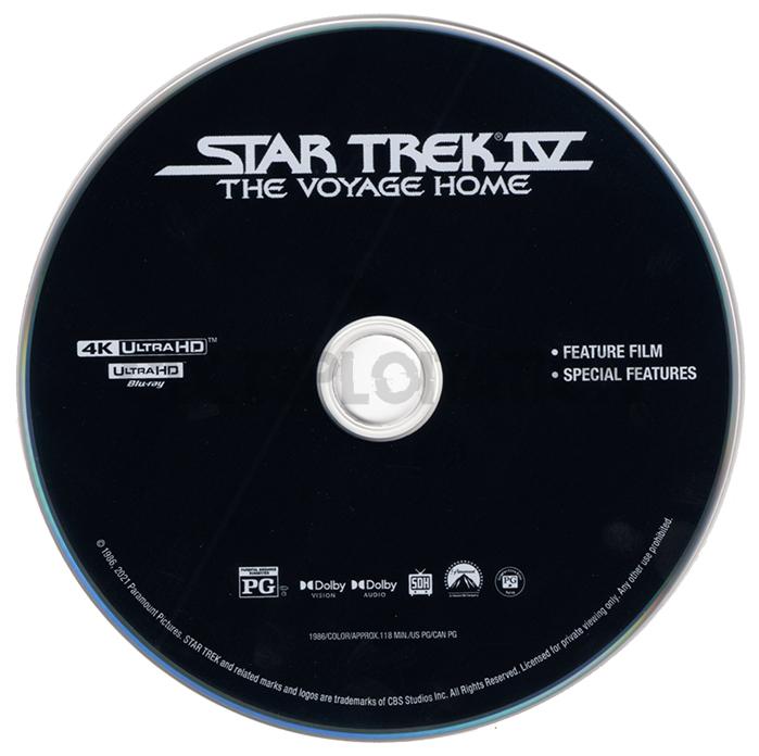 Star Trek IV: The Voyage Home 4K UHD Disc