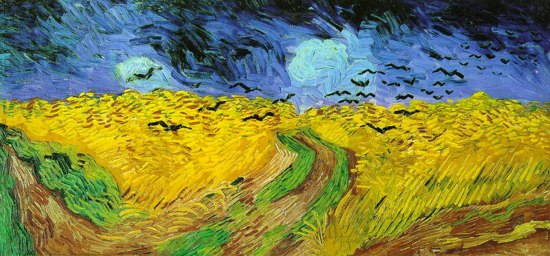 Vincent van Gogh: Campo de trigo con cuervos (1890)