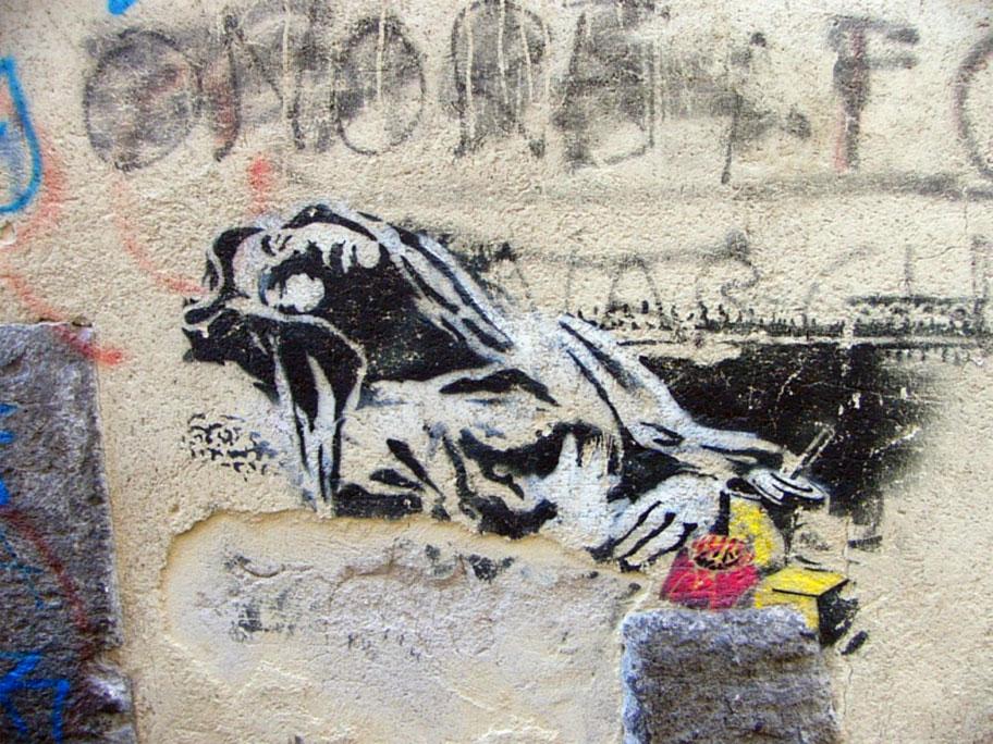 Banksy  Estasi Beata Ludovica Albertoni