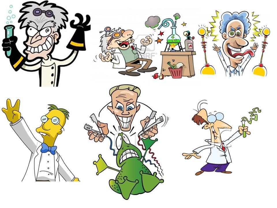 Solo una pequeña muestra de los cientos de dibujos y caricaturas basados en topicos sobre el cientifico