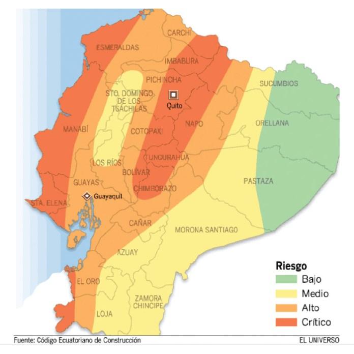 Mapa de vulnerabilidad sismica de ecuador