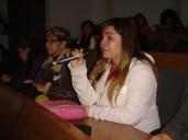 Alumna del taller de ciencias para ciegos agradece emocionada a sus profesores