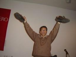 Uno de los participantes pide a la sociedad que se ponga en los zapatos de los ciegos