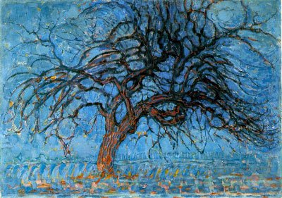 Mondrian-red-tree