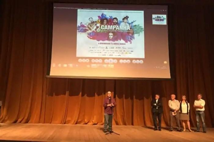 Lançamento da Campanha de Popularização no Teatro Sesiminas. Foto: Carolina Braga